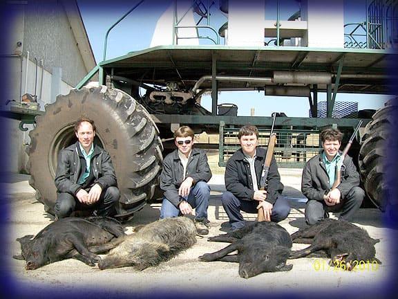 Wild Boar Hunt Report: January 25th, 2010